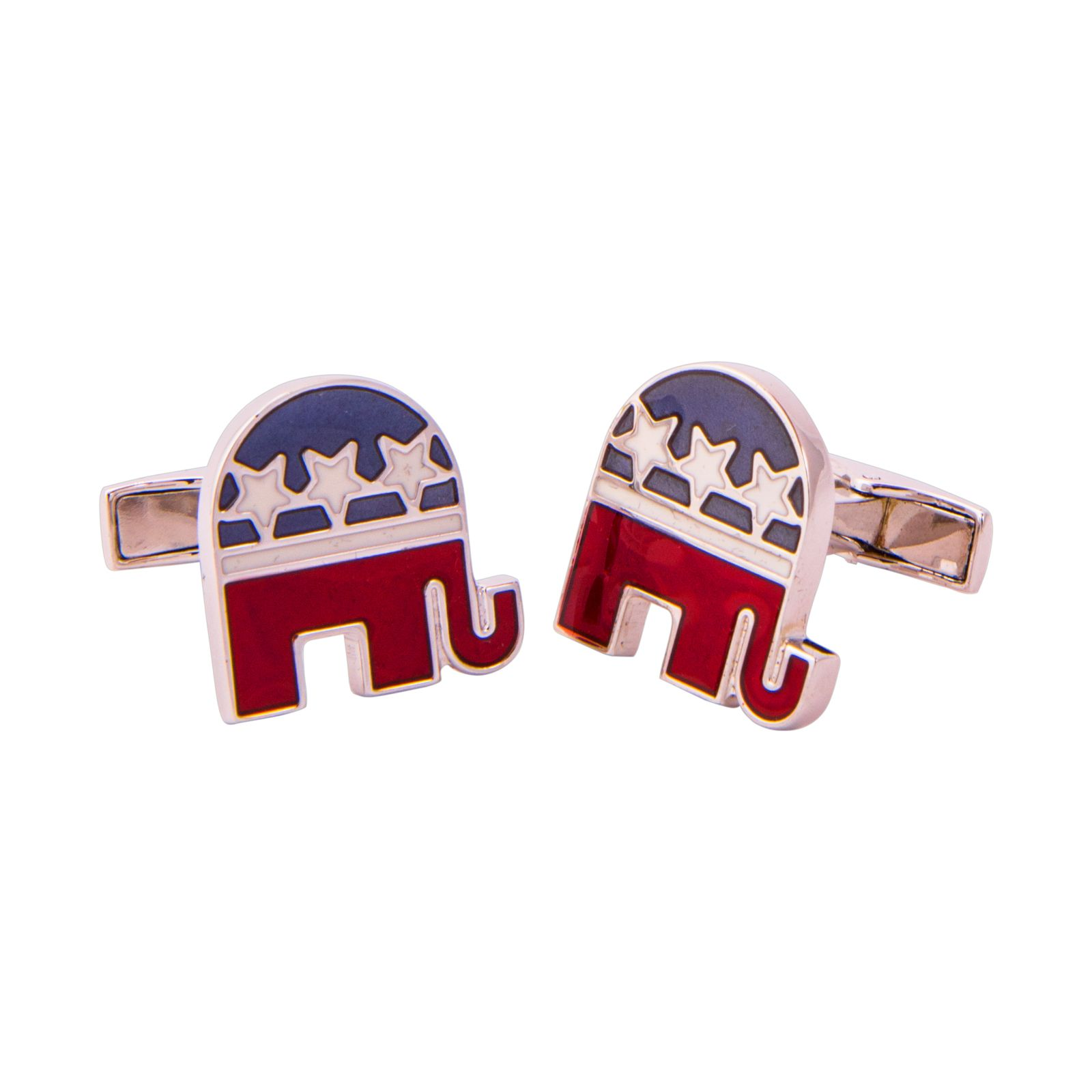 Sterling Silver Republican Elephant cuff Links