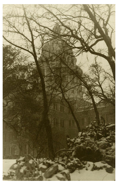 photographer unknown Capitol in the snow, Austin, about 1920