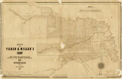 Theodore Fisher Map of Fisher and Miller's Colony, 1855