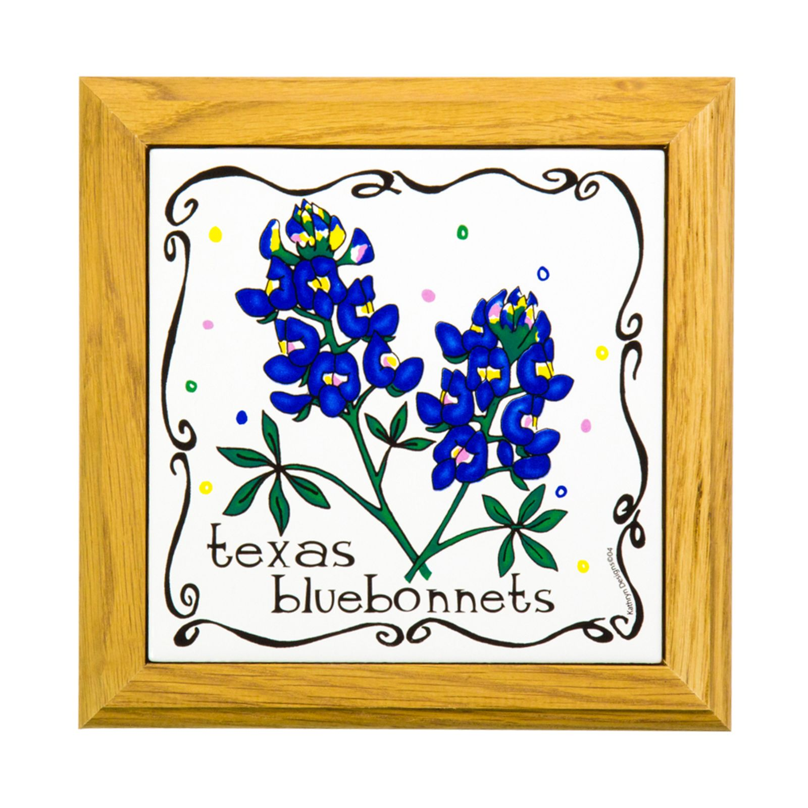 Framed Bluebonnet Trivet