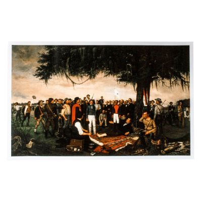 Surrender of Santa Anna Print