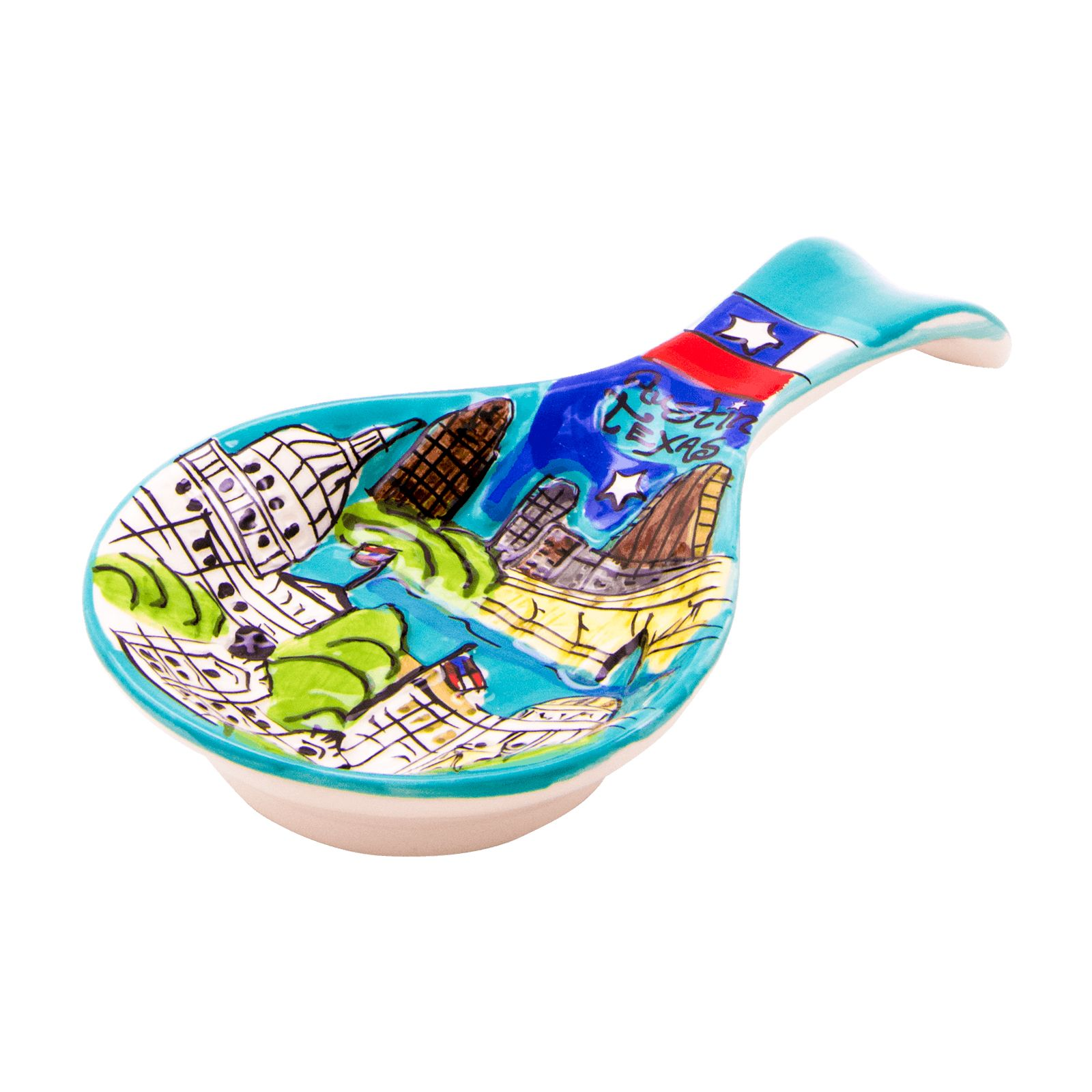 Austin Skyline Ceramic Spoon Rest