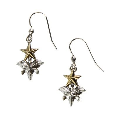 Sterling Silver Capitol Fence Finial Earrings