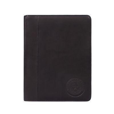 Black Leather Padded Cover Portfolio