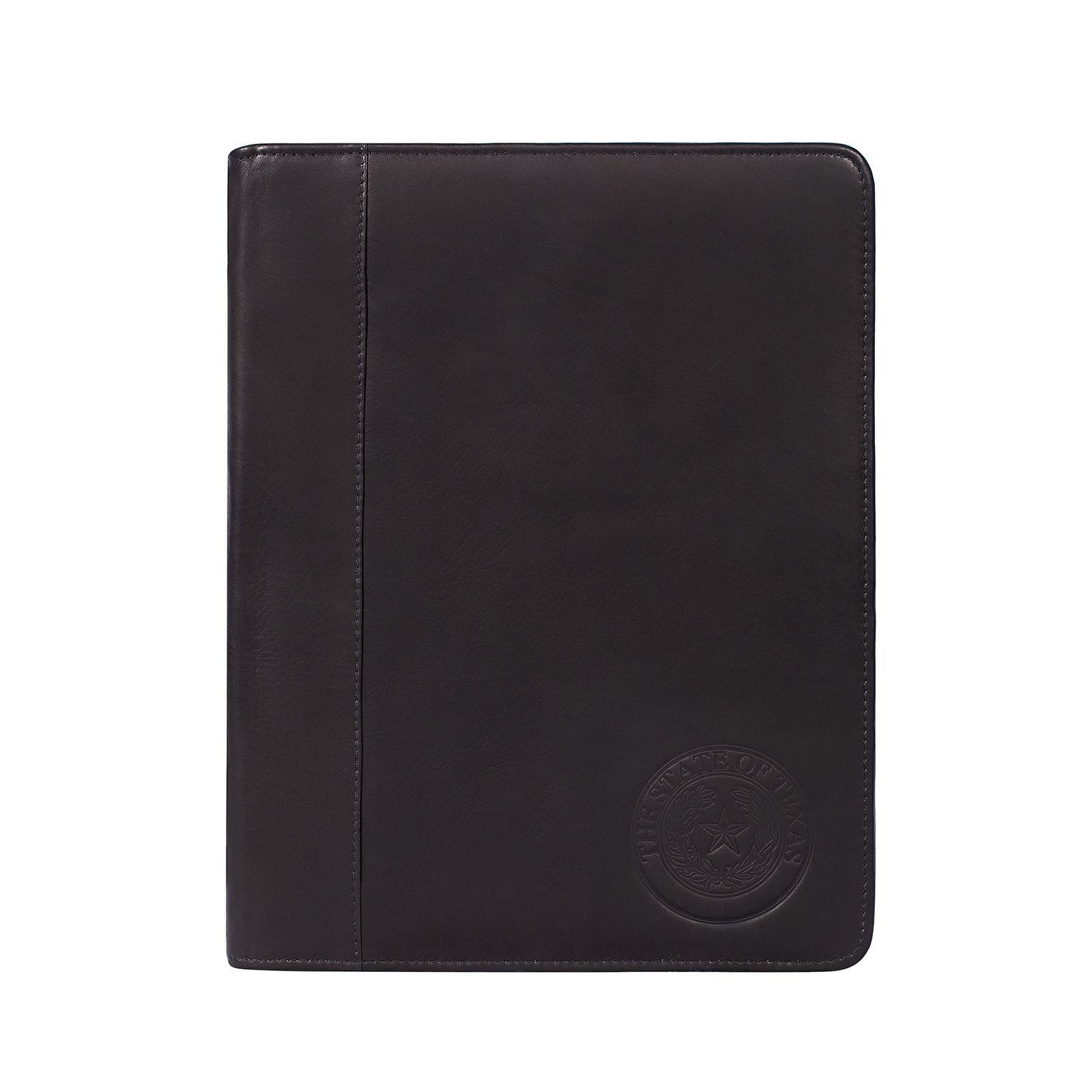 Black Leather Padded Cover Portfolio