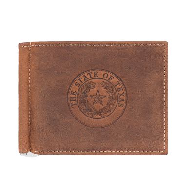 Distressed Leather Bi-Fold Wallet