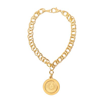 State Seal Gold-Plated Charm Bracelet