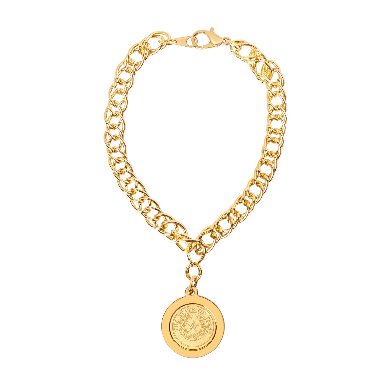 State Seal Gold Plated Charm Bracelet