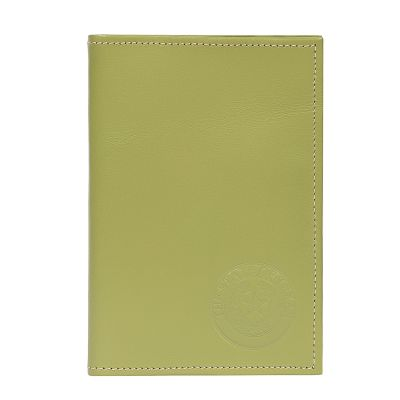 Apple Green Leather Passport Wallet