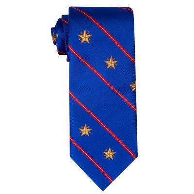 Star of Texas Capitol Blue Silk Tie