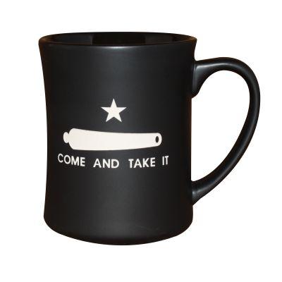 Gonzales Flag Deep Etched Matte Black Mug