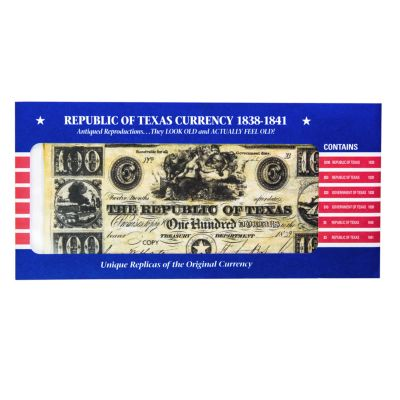 Replica Republic of Texas Bank Note Set