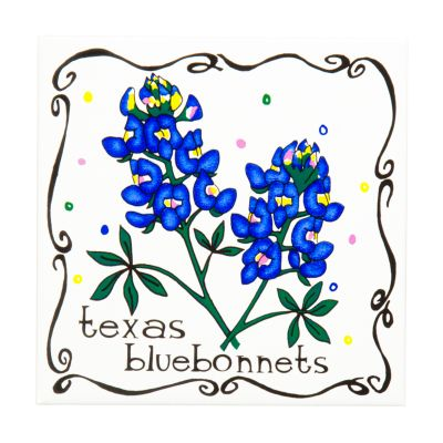Texas Bluebonnet Ceramic Trivet