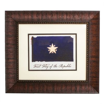 Framed First Flag of Republic of Texas