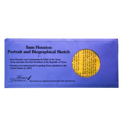 Sam Houston Portrait and Biography