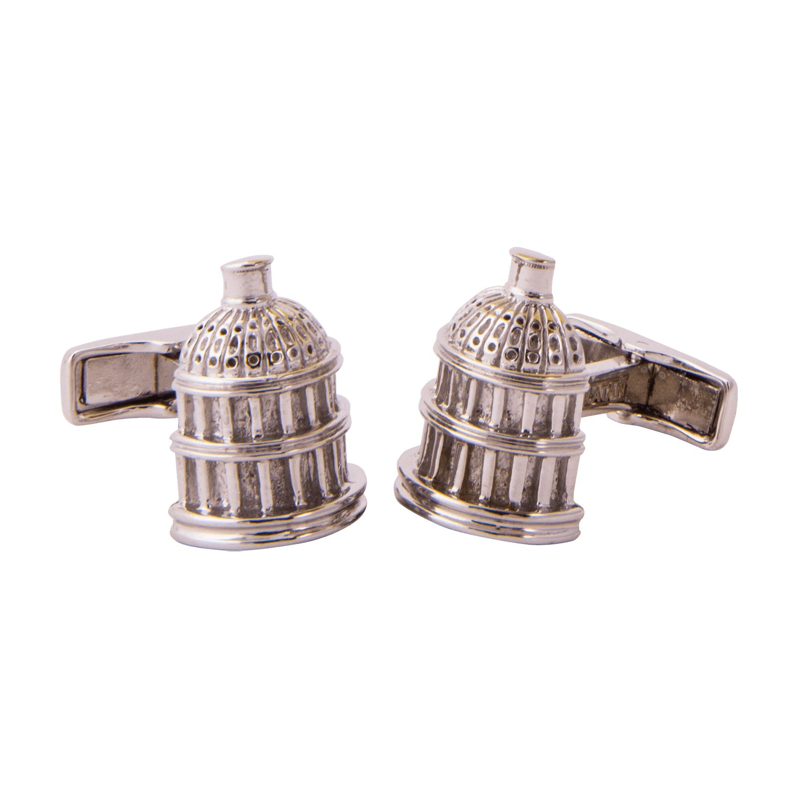 Texas Capitol Dome Sterling Silver Cuff Links
