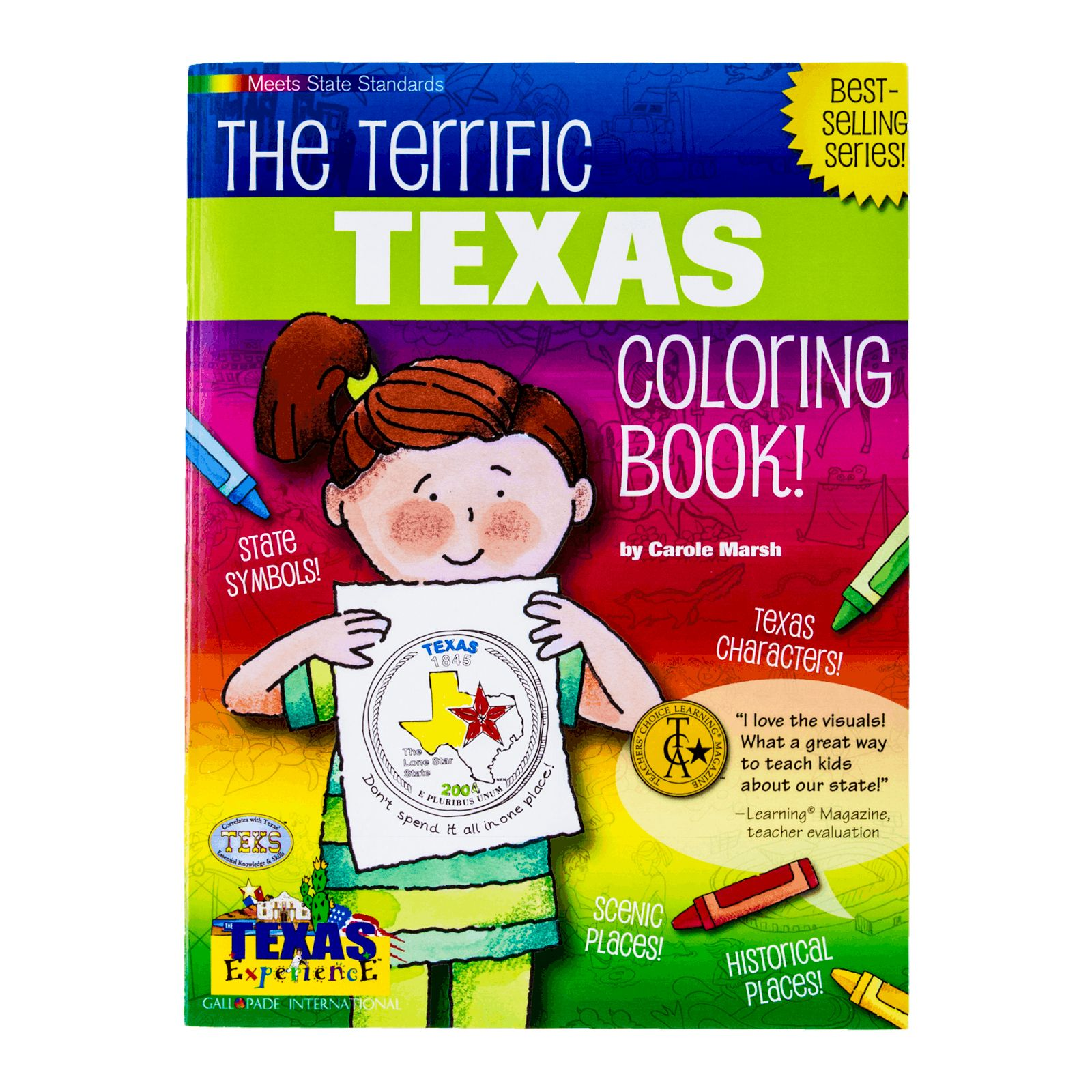 The Terrific Texas Coloring Book | Texas Capitol Gift Shop