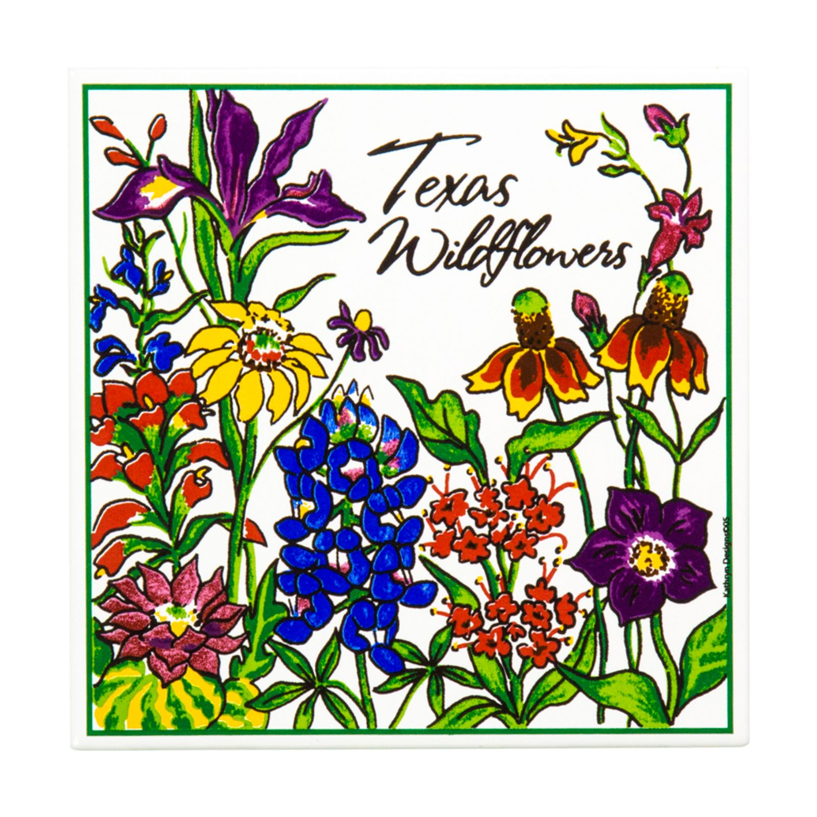 Texas Wildflower Ceramic Trivet