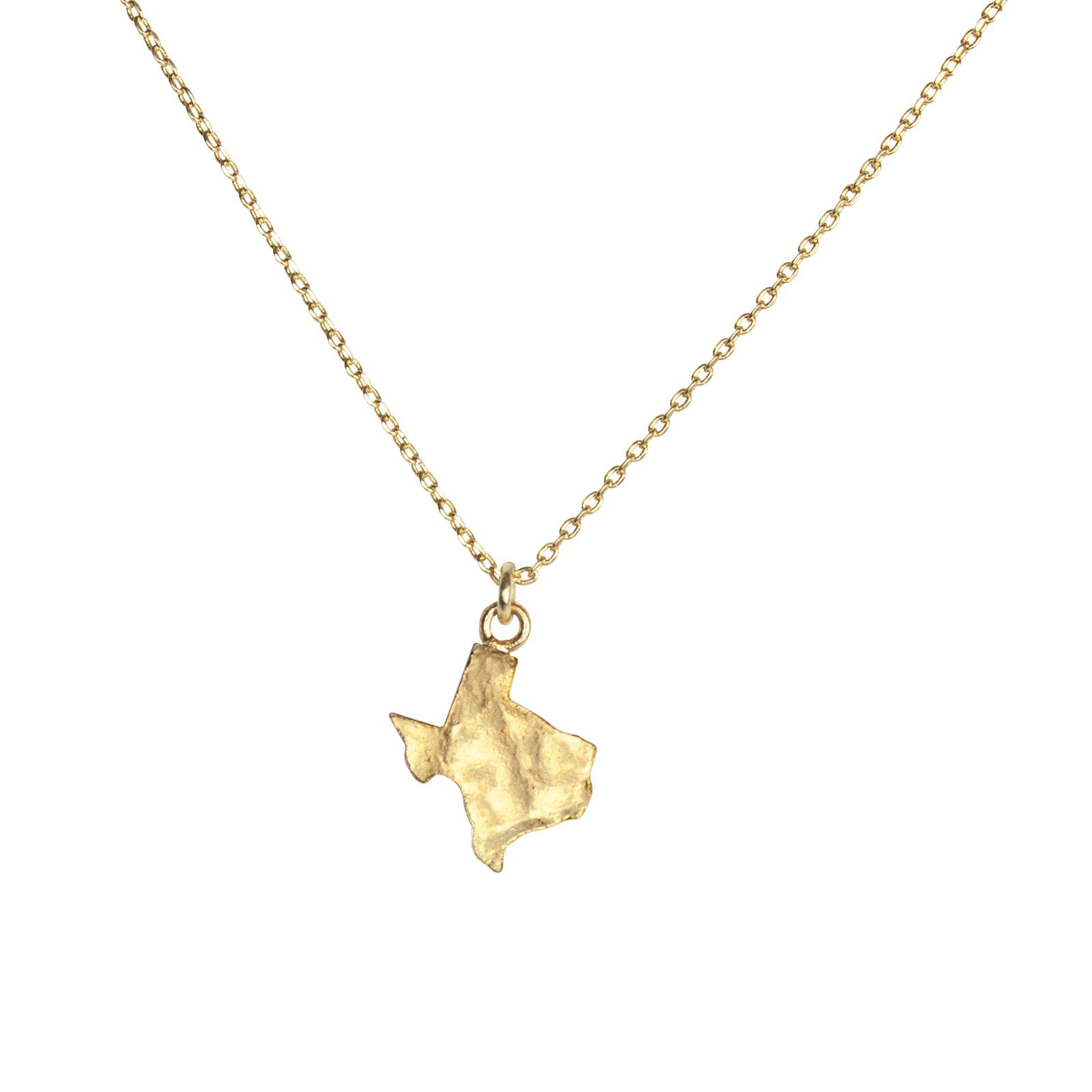 Texas Hammered Gold Necklace