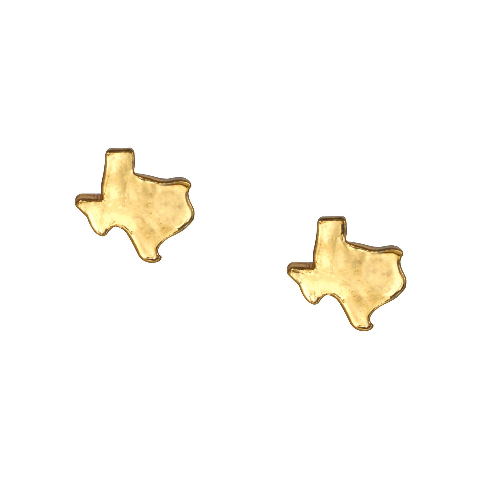 Texas Gold Stud Earrings