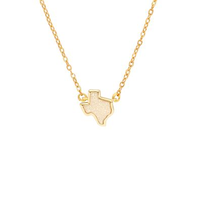 Texas White Druzy Necklace
