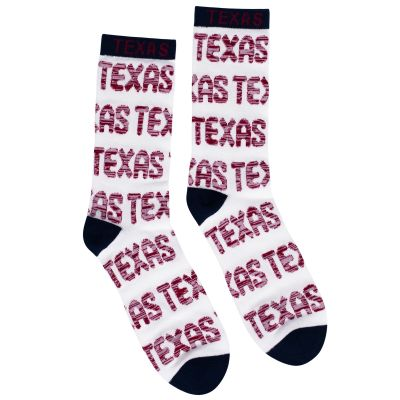 Texas White and Red Socks