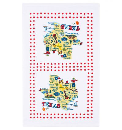 Texas Attraction Cotton Dish Towel