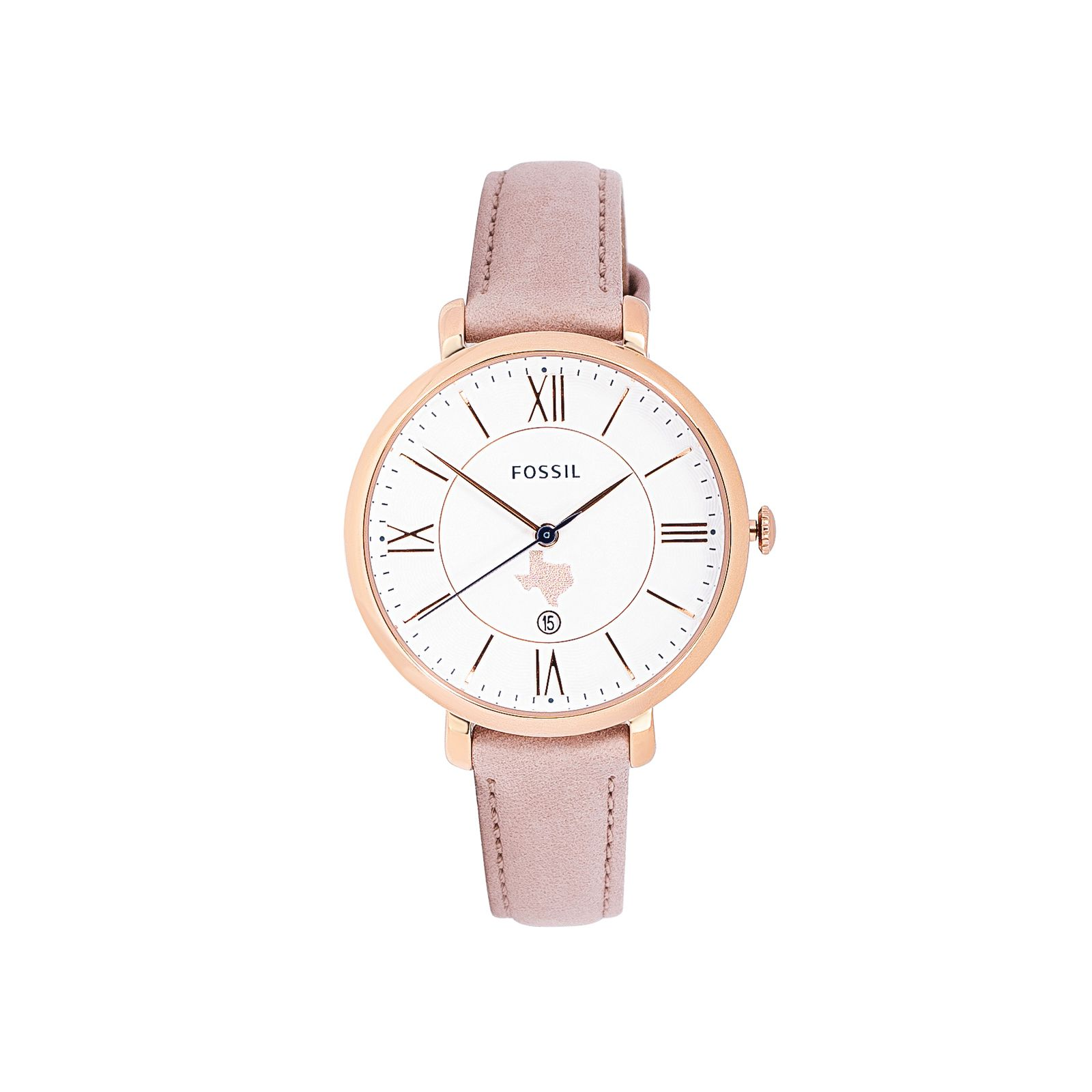 Fossil Texas Rose Gold Tone Watch