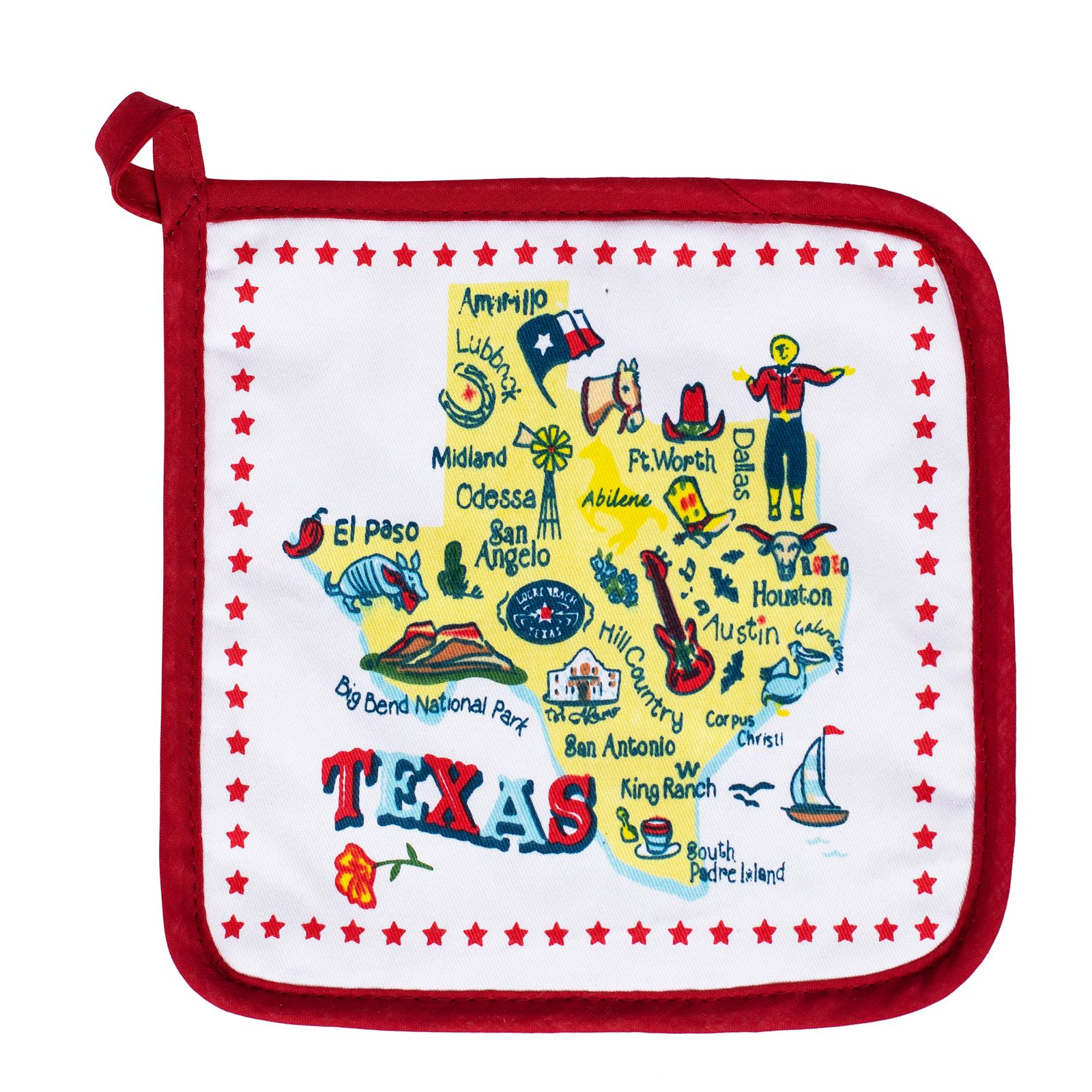 Texas Attraction Cotton Pot Holder