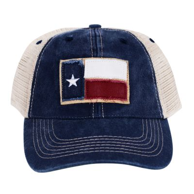 Texas Flag Patch Navy Trucker Hat