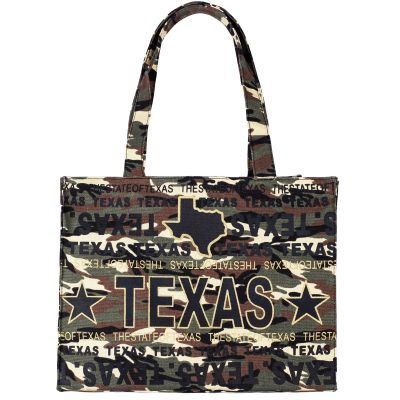 Texas Canvas Camouflage Tote Bag