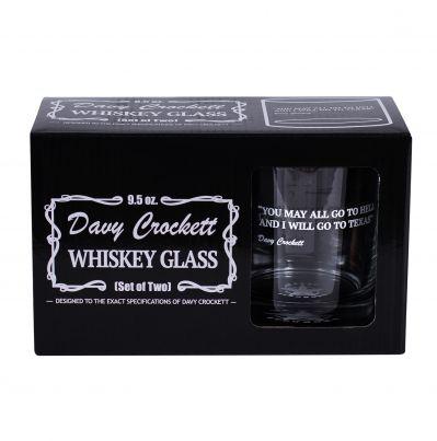 Davy Crockett Whiskey Glass Set