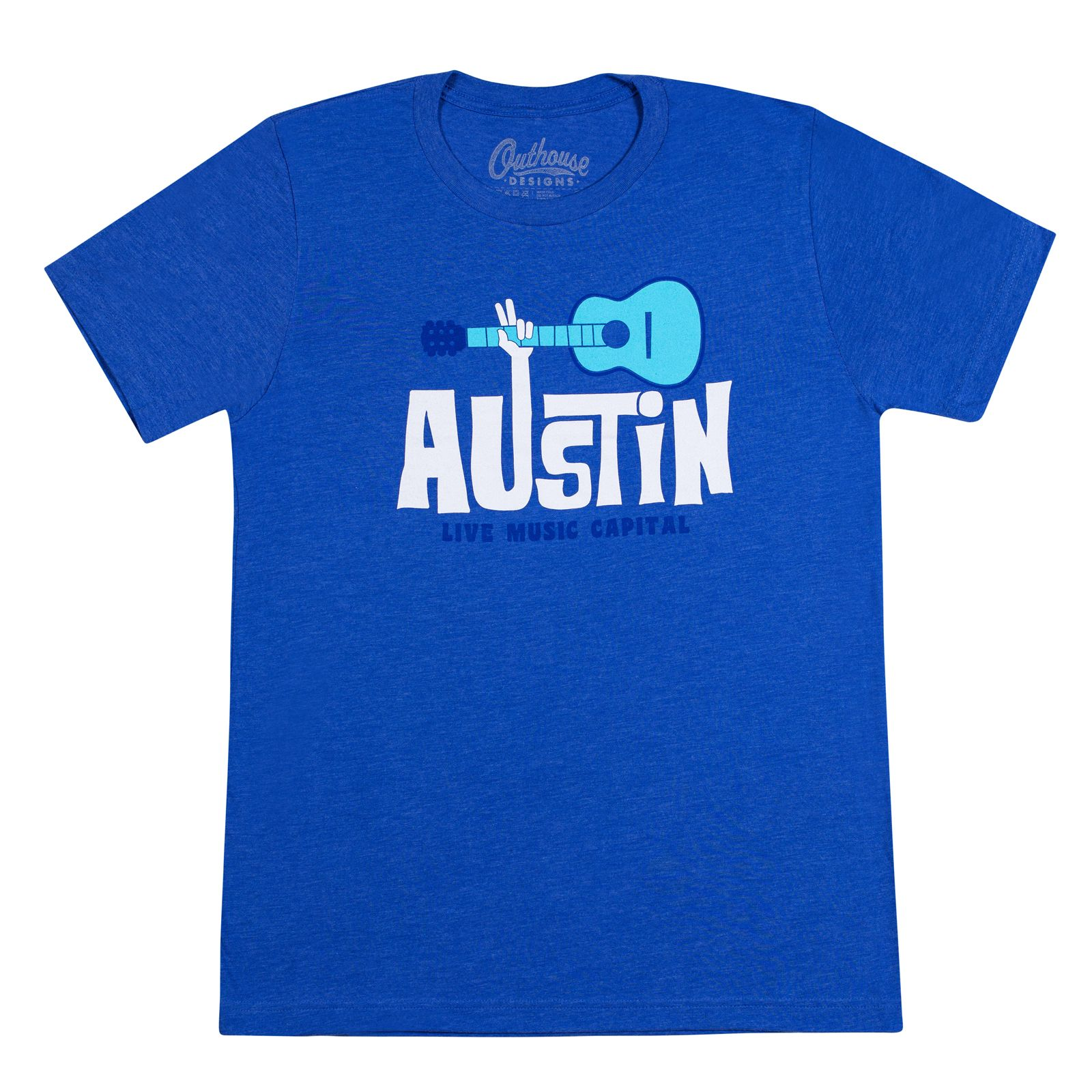 Austin Live Music Capital Blue T-Shirt