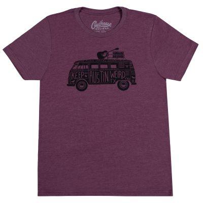 Keep Austin Weird Band Van Maroon T-Shirt