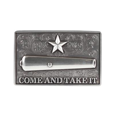 Gonzales Flag Silver Tone Belt Buckle