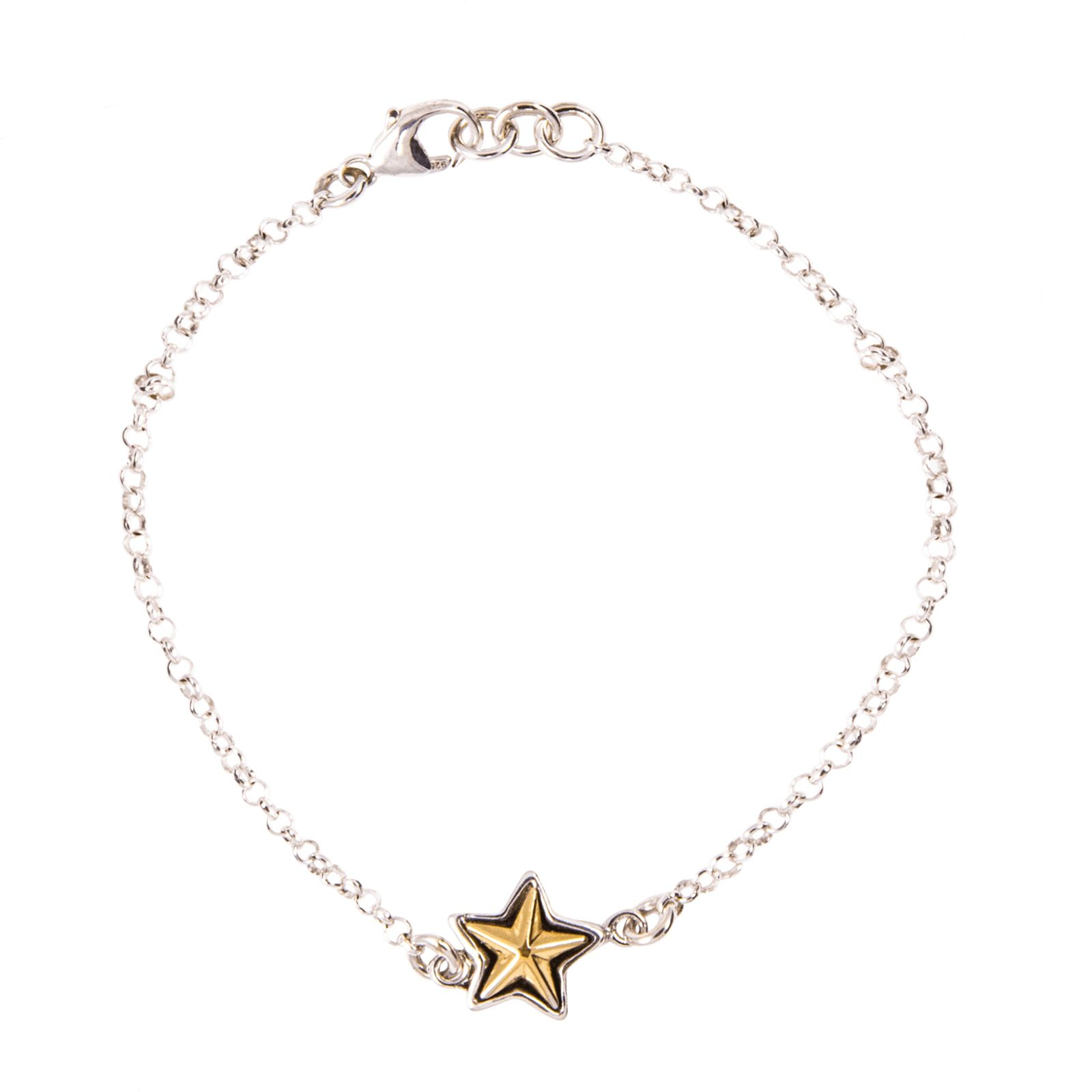 Single Sterling Silver Texas Star Bracelet