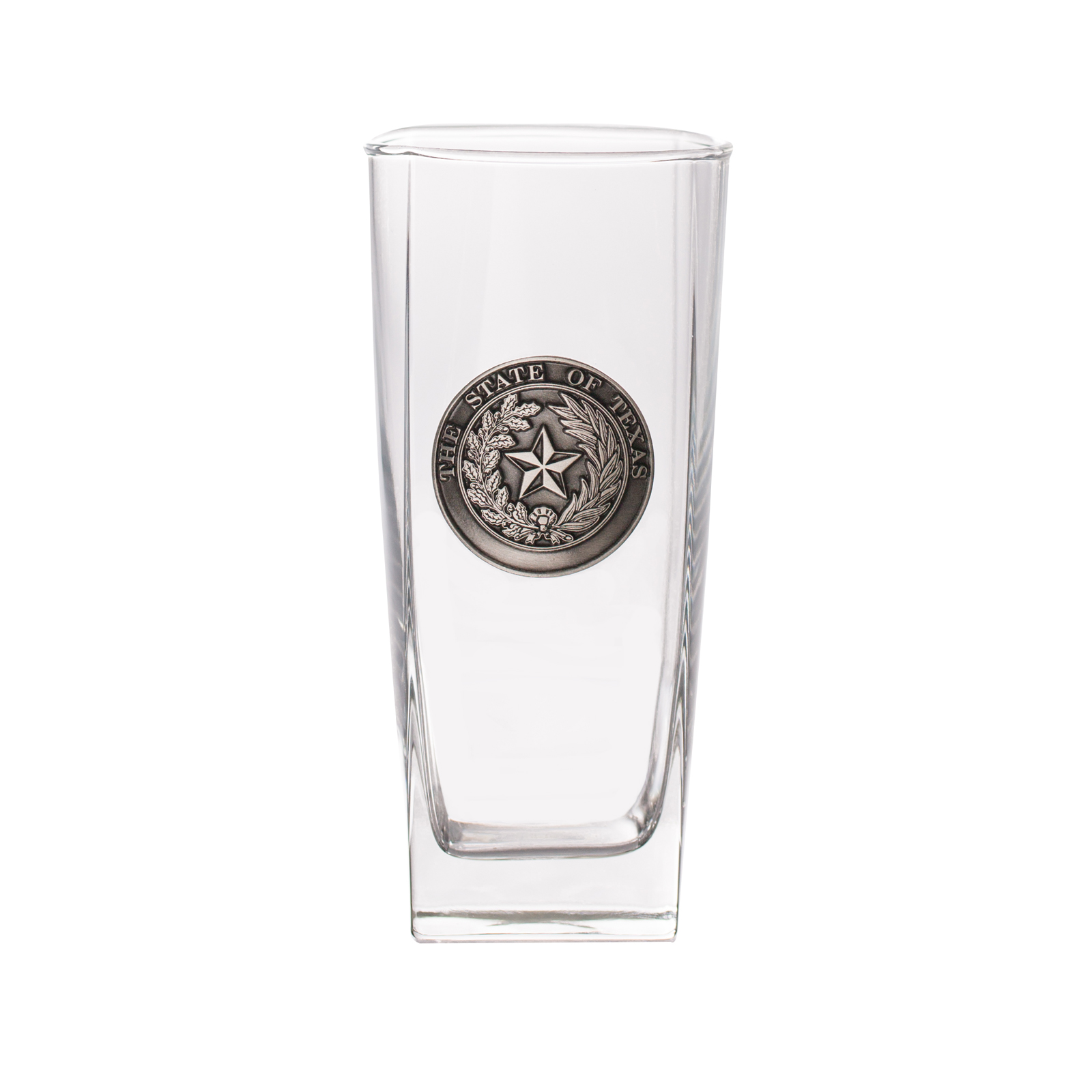 Texas State Seal Pewter Glass