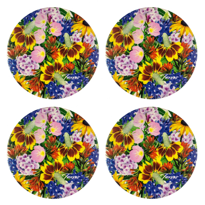 Texas Wildflowers Stone Coaster Set