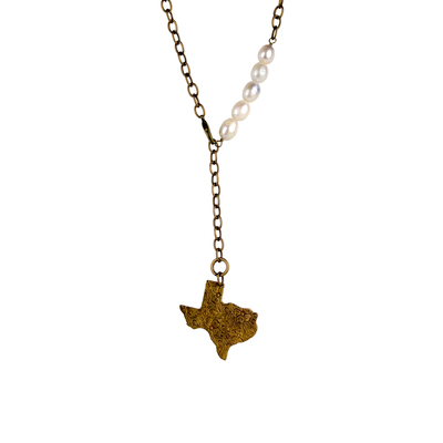Texas Y Freshwater Pearl Necklace