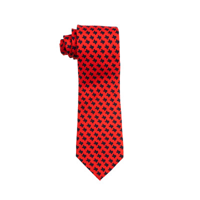 Optical Texas Red Silk Tie