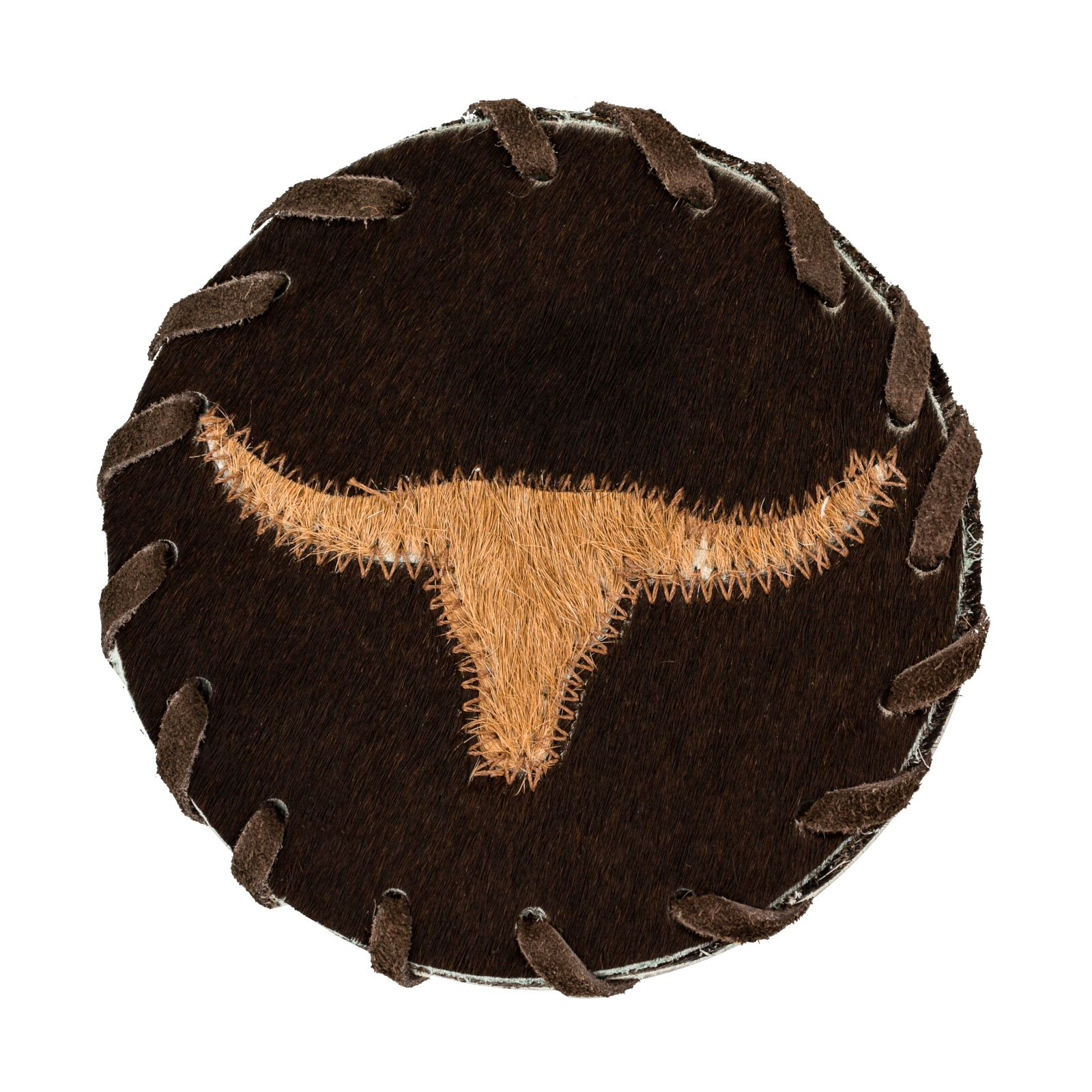 Longhorn Leather Coaster