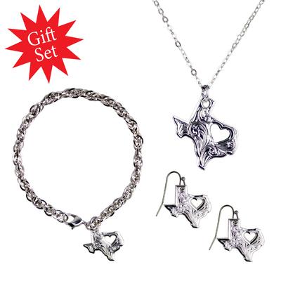 """""""My Heart Belongs in Texas"""" Jewelry Gift Set"""