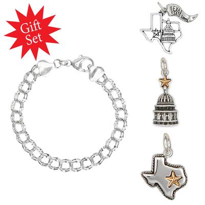 Texas Charm Bracelet Gift Set