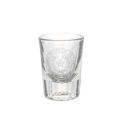 Texas State Seal Etched Shot Glass