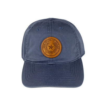 Texas State Seal Leather Patch Baseball Cap