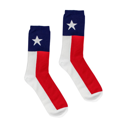 Texas Flag Adult Socks