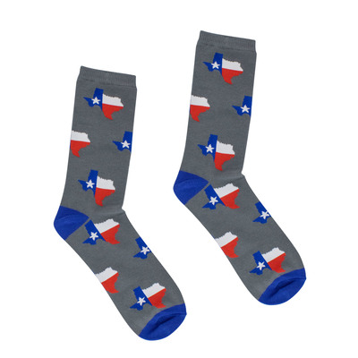 Texas Shaped State Flag Adult Socks