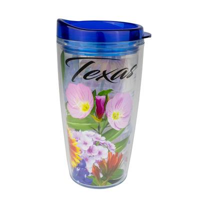 Texas Wildflowers Travel Tumbler
