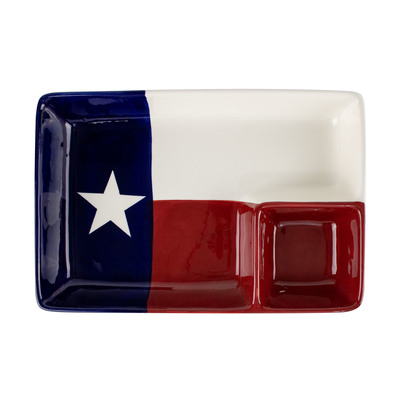 Texas Flag Chip and Dip Platter