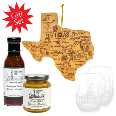 Texas Cheese Board Gift Set